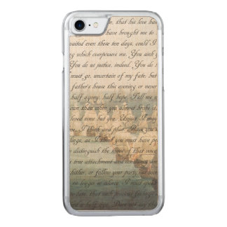 Persuasion Letter Carved iPhone 7 Case
