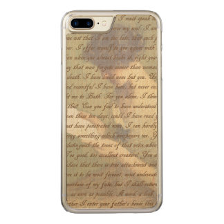 Persuasion Letter Carved iPhone 7 Plus Case
