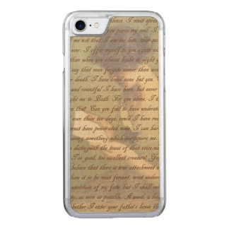 Persuasion Letter Carved iPhone 8/7 Case