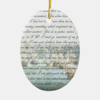 Persuasion Letter customisable Ceramic Oval Decoration
