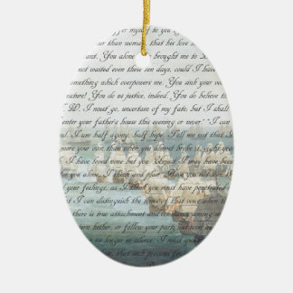 Persuasion Letter double-sided Ceramic Oval Decoration