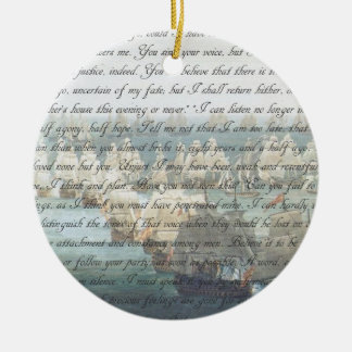 Persuasion Letter double-sided Round Ceramic Decoration
