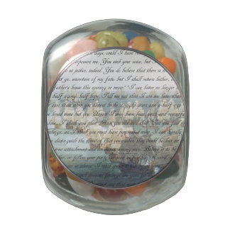 Persuasion Letter Glass Jar