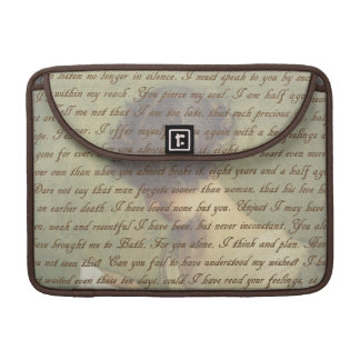 Persuasion Letter Sleeve For MacBooks