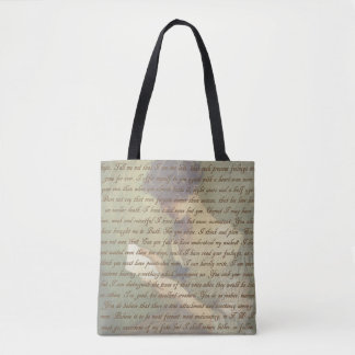 Persuasion Letter Tote Bag