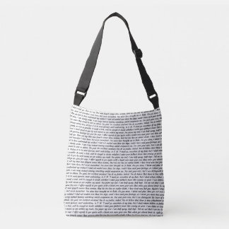 Persuasion Text Crossbody Bag