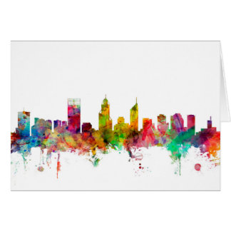 Perth Australia Skyline Card
