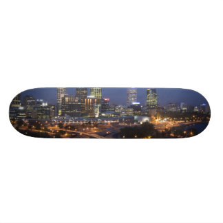 Perth, Australia. View of downtown Perth from 20 Cm Skateboard Deck