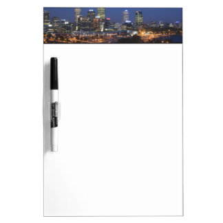 Perth, Australia. View of downtown Perth from Dry Erase Board