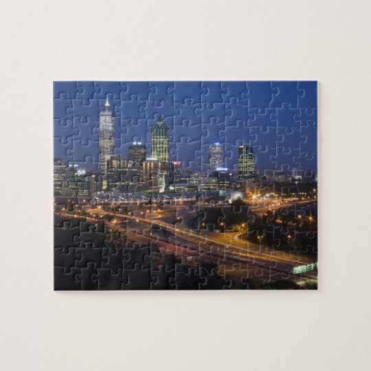 Perth, Australia. View of downtown Perth from Jigsaw