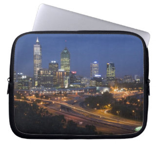 Perth, Australia. View of downtown Perth from Laptop Sleeve