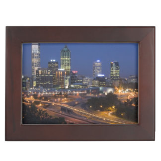 Perth, Australia. View of downtown Perth from Memory Boxes