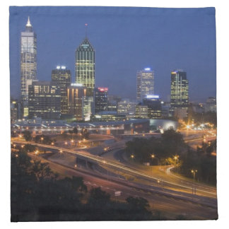 Perth, Australia. View of downtown Perth from Napkin