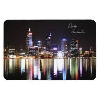 Perth Night Skyline, Australia - Magnet