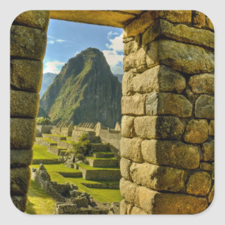 Peru, Andes, Andes Mountains, Machu Picchu, Square Sticker