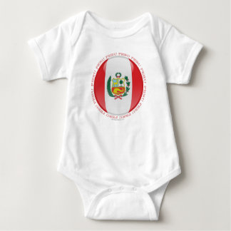 Peru Bubble Flag Baby Bodysuit