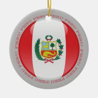 Peru Bubble Flag Christmas Ornament