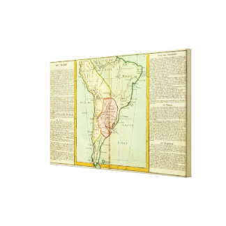 Peru, Chile, Brazil, Paraguay Canvas Print