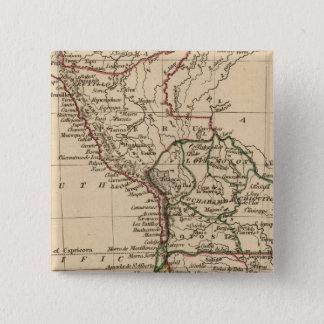 Peru, Chili, La Plata 15 Cm Square Badge