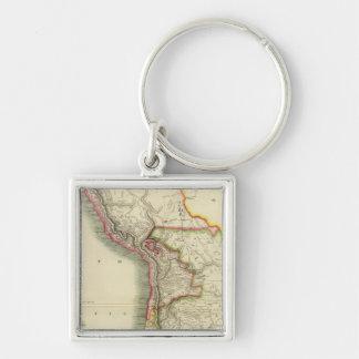 Peru, Chili, La Plata 2 Key Ring