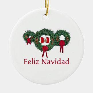 Peru Christmas 2 Christmas Ornament