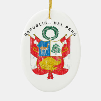 Peru Coat Of Arms Christmas Ornament