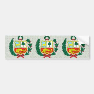 Peru Coat of Arms detail Bumper Sticker