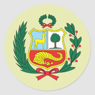 Peru Coat of Arms detail Classic Round Sticker