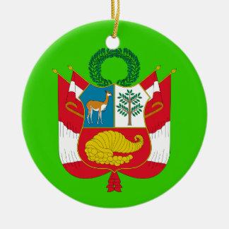 PERU* Custom Coat of Arms Christmas Ornament