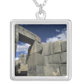 Peru, Cuzco, Sacsayhuaman fortress, good example Square Pendant Necklace