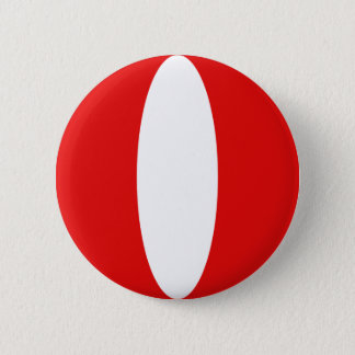 Peru Fisheye Flag Button
