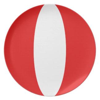Peru Fisheye Flag Plate