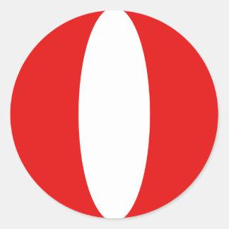 Peru Fisheye Flag Sticker