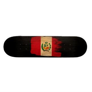 Peru Flag 20.6 Cm Skateboard Deck