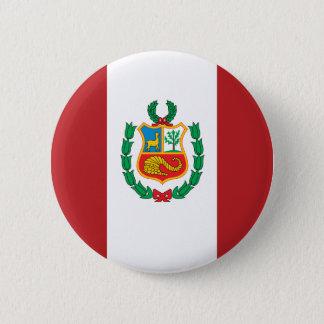 Peru Flag 6 Cm Round Badge