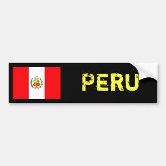 Peru flag bumber sticker