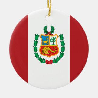 Peru Flag Christmas Ornament
