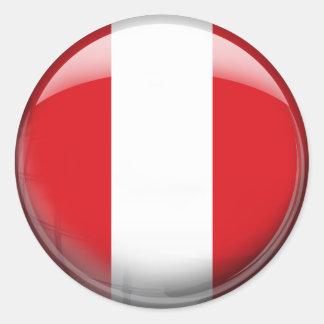 Peru Flag Classic Round Sticker