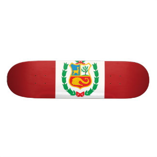 Peru Flag Custom Skate Board