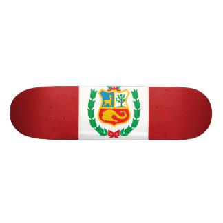 Peru Flag Custom Skate Board