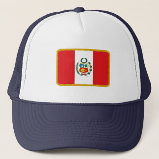 Peru flag embroidered effect hat