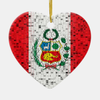 Peru Flag glitter ornament