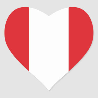 Peru Flag Heart Sticker