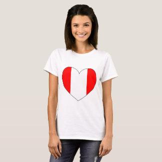 Peru Flag Heart T-Shirt