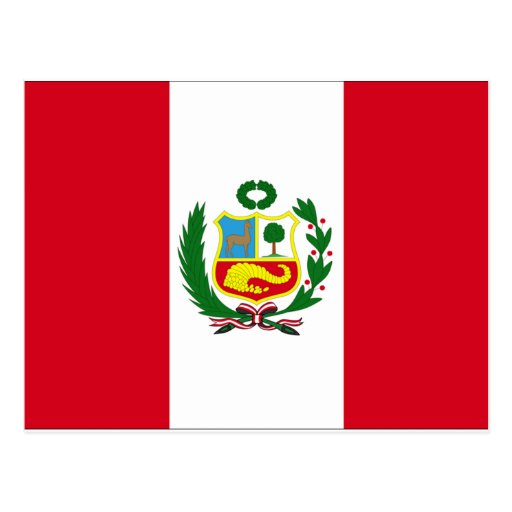 Peru Flag Post Card