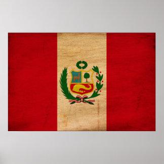 Peru Flag Poster