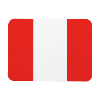 Peru Flag Rectangular Photo Magnet