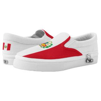 Peru Flag Slip On Shoes