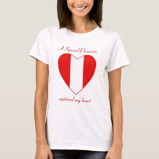 Peru Flag Sweetheart T-Shirt