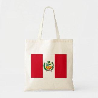 Peru Flag Budget Tote Bag
